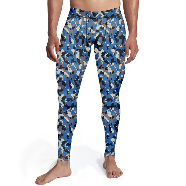 Men's Blue Camo Tights - Frugal Bob's