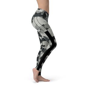Veronica Mesh Digital Grey Camo Leggings - Frugal Bob's