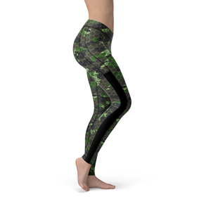 Veronica Mesh Army Hex Camo Leggings - Frugal Bob's