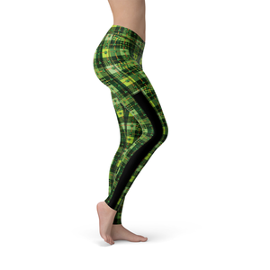 Veronica Mesh Clover Patchwork Leggings - Frugal Bob's