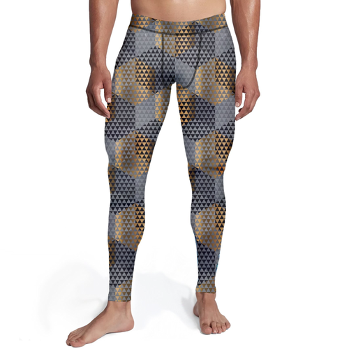 Men's Golden Geometric Tights - Frugal Bob's