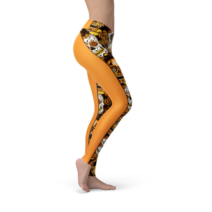 Catrina Orange Sugar Skulls Leggings - Frugal Bob's
