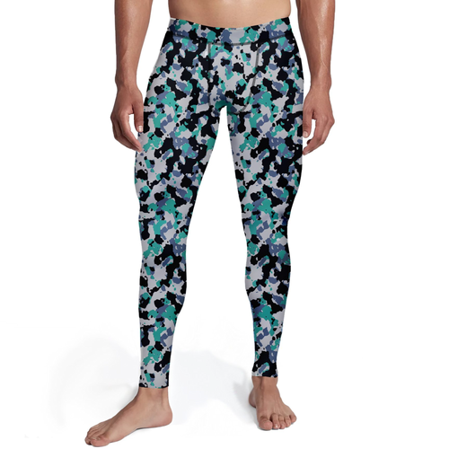 Men's Green White Camo Tights - Frugal Bob's