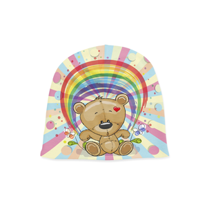 Infant Rainbow Teddy Beanie - Frugal Bob's