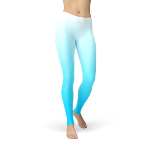 Catrina White Blue Ombre Leggings - Frugal Bob's