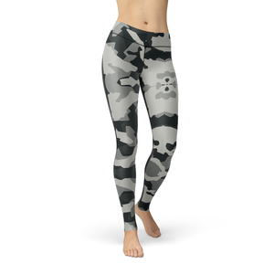 Catrina Digital Grey Camo Leggings - Frugal Bob's
