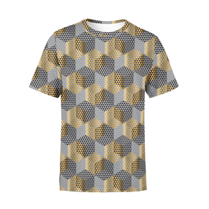 Men's Golden Geometric T-Shirt - Frugal Bob's