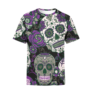 Men's Purple Sugar Skulls T-Shirt - Frugal Bob's