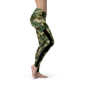 Veronica Mesh Green Camo Leggings - Frugal Bob's