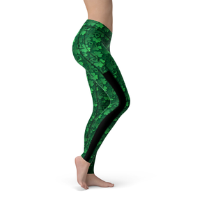 Veronica Mesh Clovers All Over Leggings - Frugal Bob's