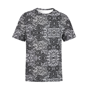 Men's Black Lace T-Shirt - Frugal Bob's