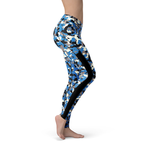 Veronica Mesh Blue Camo Leggings - Frugal Bob's