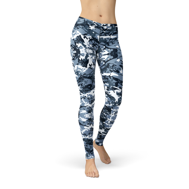 Cherie Navy Camo Leggings - Frugal Bob's
