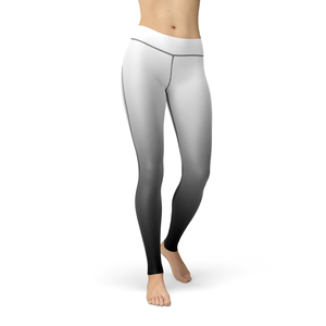 Catrina White Black Ombre Leggings - Frugal Bob's
