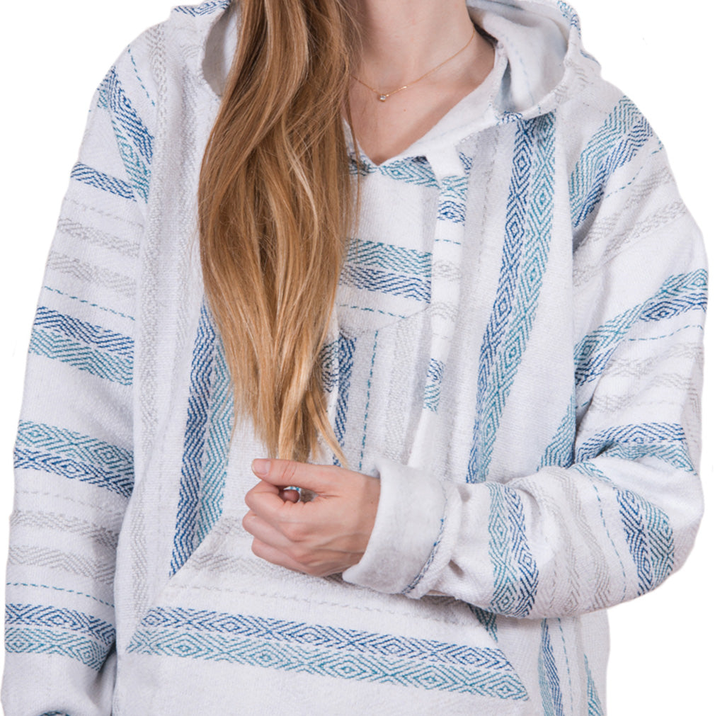 Grey and Baby Blue Heavy Drug Rug