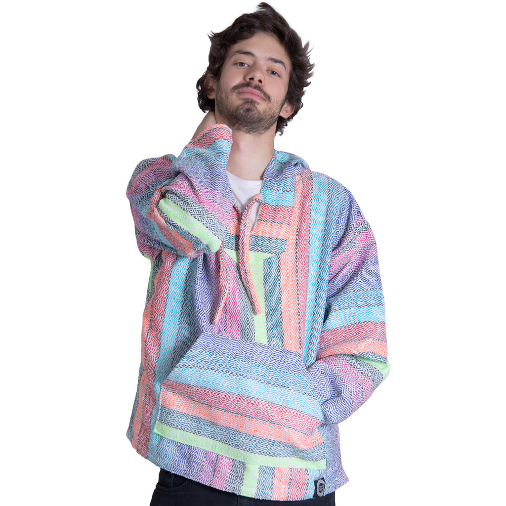 Pink and Purple Hemp Drug Rug