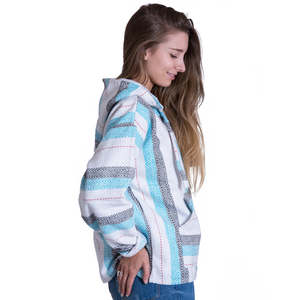 Men's Teal and Red Drug Rug