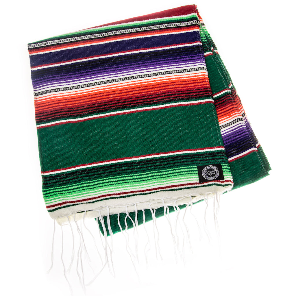 green red and purple serape