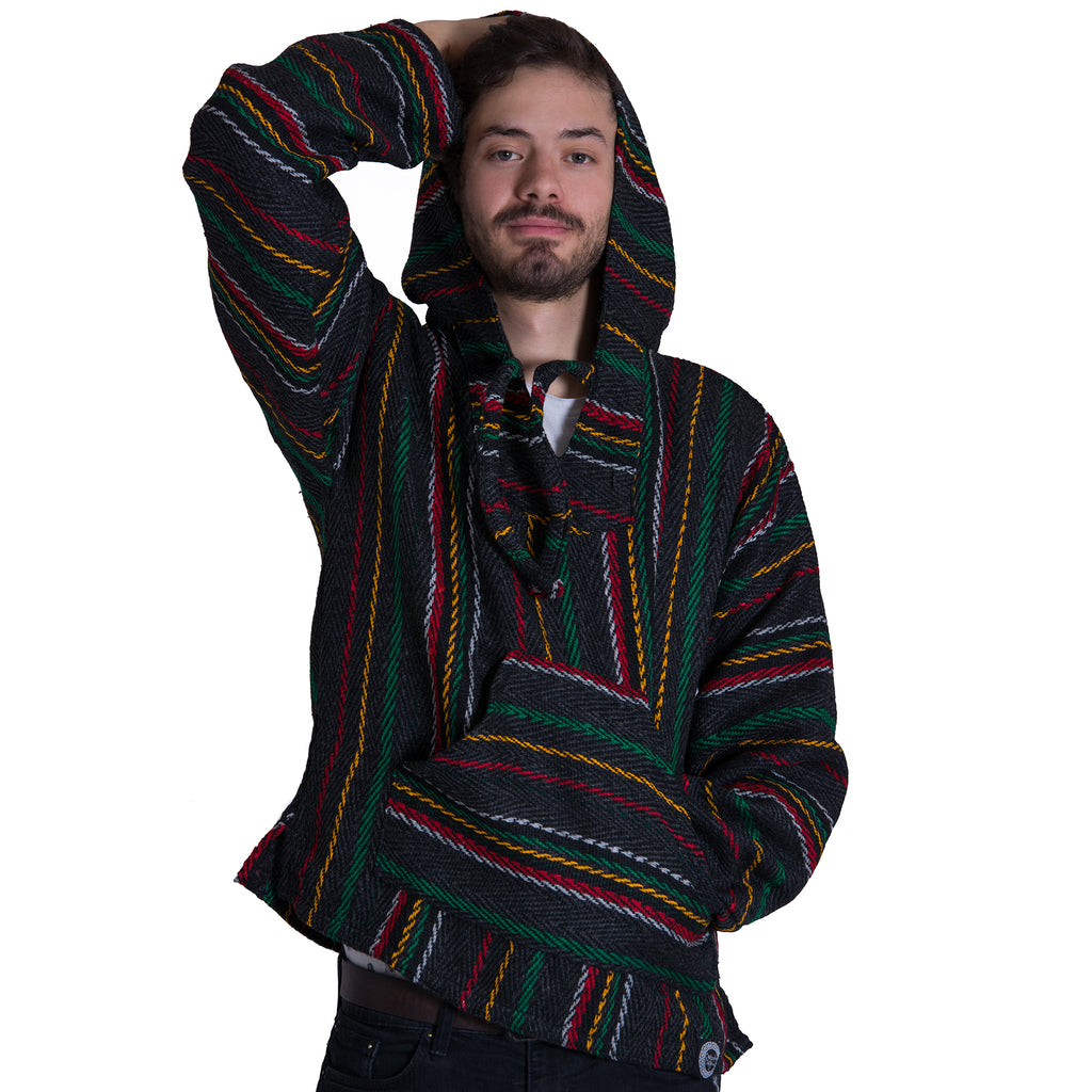 420 Hoodie with Rasta Colors