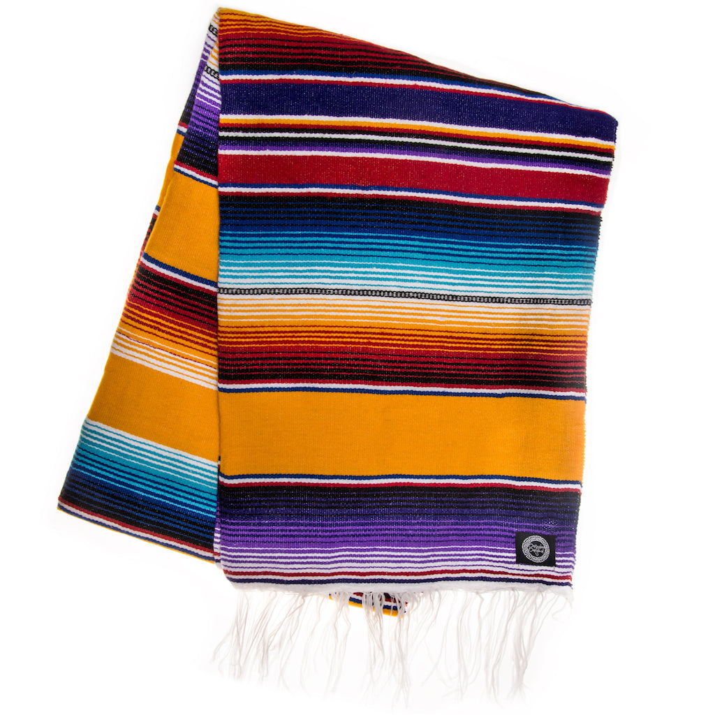 purple orange and yellow traditional serape