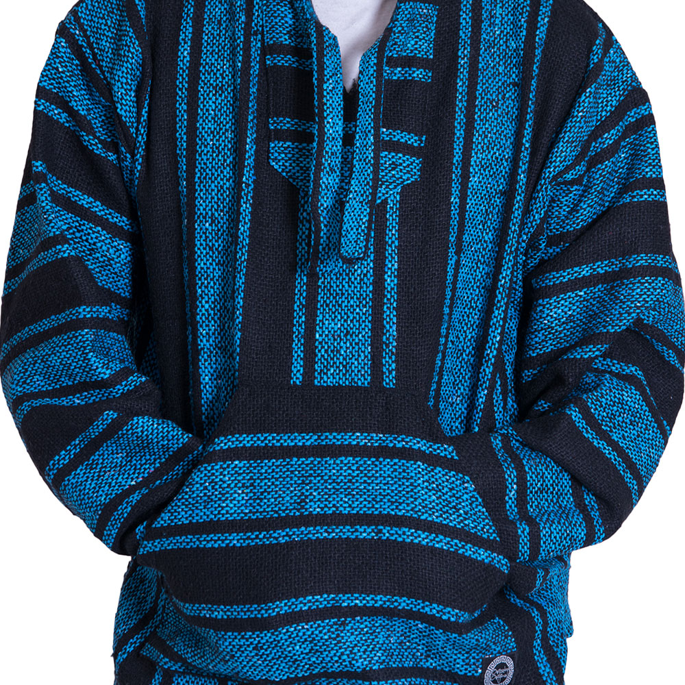 blue and back drug rug