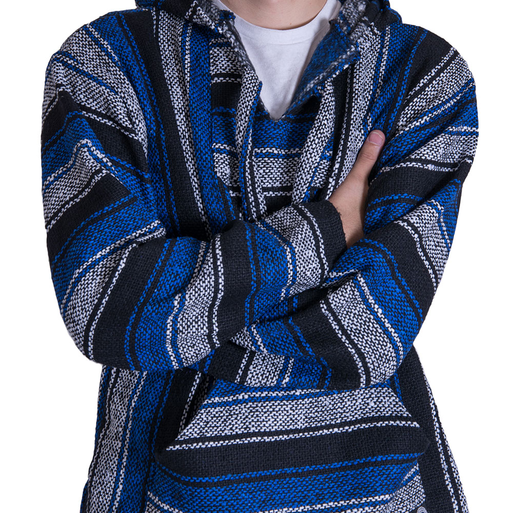 Cheap Blue and White Baja Hoodie