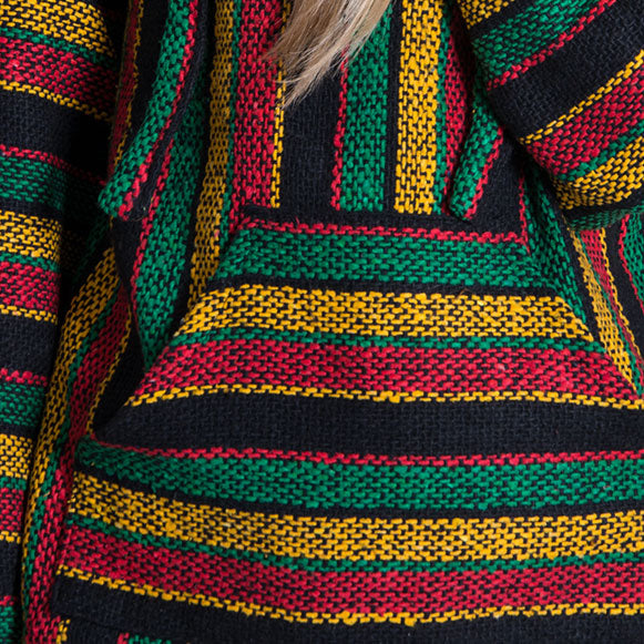 Red Rasta Baja Sweater
