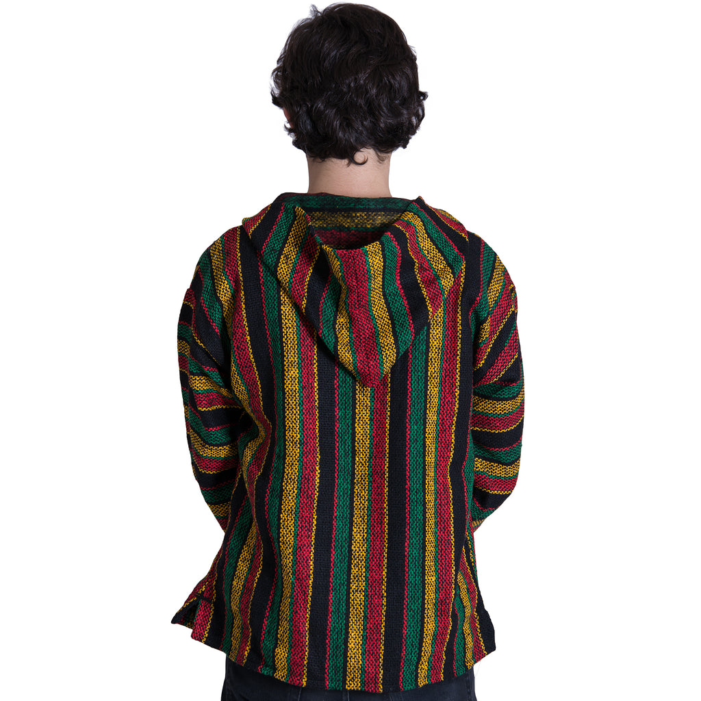 Marijuana Fashion Rasta Red Baja Hoodie