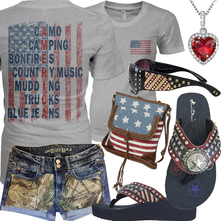 The American Flag Montana West Sunglasses Outfit