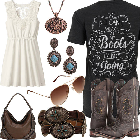 Wear My Boots Legendary Whitetails Dress Outfit