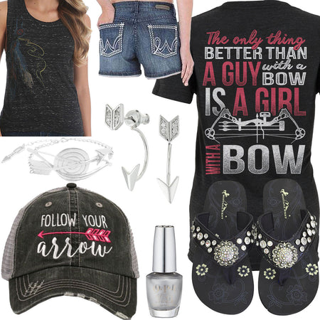 Girl With A Bow Follow Your Arrow Hat Outfit