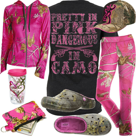 Dangerous In Camo Realtree Camo Crocs Outfit