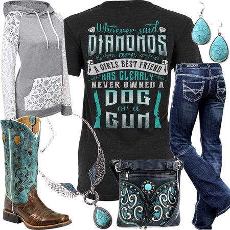 A Girls Best Friend Turquoise Necklace Outfit
