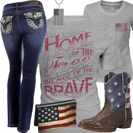 Home Of The Free WallFlower Jeans Outfit