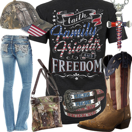 Faith, Family, Friends and Freedom Outfit