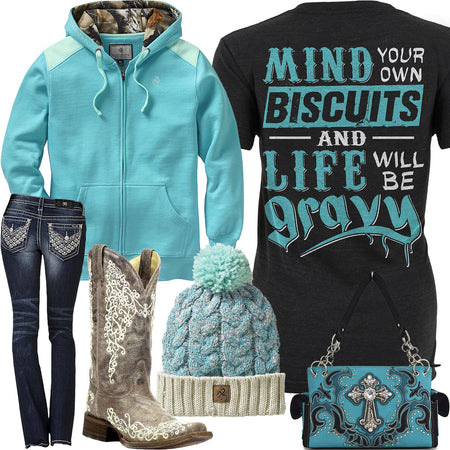 Mind Your Own Biscuits Legendary Whitetails Hoodie Outfit