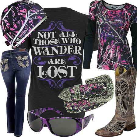 Those Who Wander Muddy Girl Long Sleeve Outfit