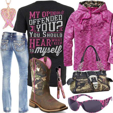 Keep To Myself Legendary Fuchsia Hoodie Outfit