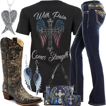 With Pain Comes Strength Realtree Jeans Outfit