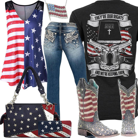 They're Our Rights Corral Boots Outfit