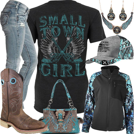 Small Town Girl Bullet Jewelry Set Outfit
