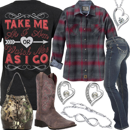 Take Me As I Am Infinity Heart Bracelet Outfit