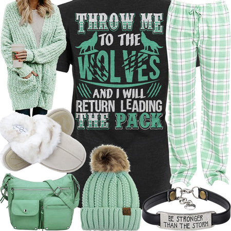 Leading The Pack Mint Plaid Pants Outfit