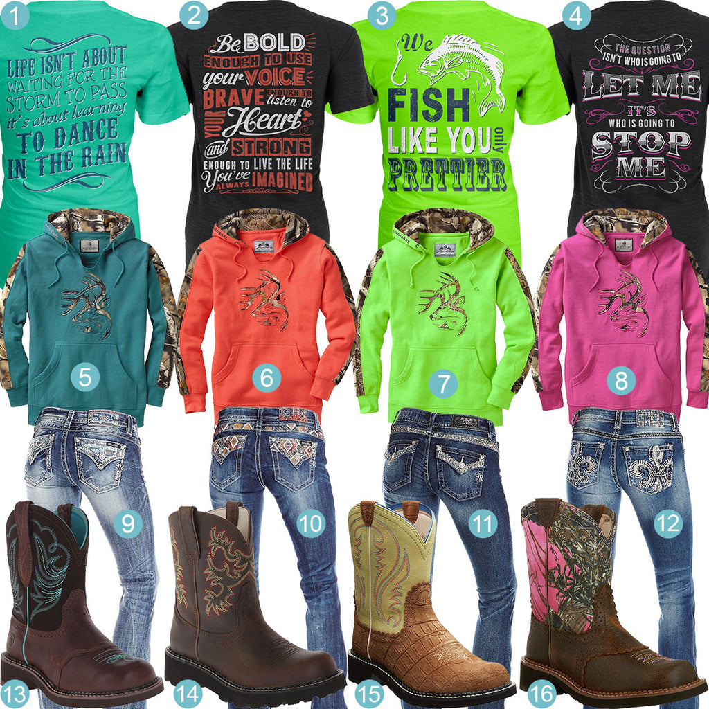 4 T Shirt Hoodies Jeans And Boots Outfits Real Country Ladies
