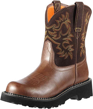 Ariat Brown Rebel Fatbaby Cowboy Boot