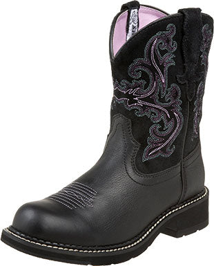 Ariat Black Deertan/Orchid Fatbaby Boot