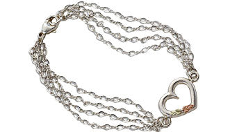 Chains and Heart Bracelet