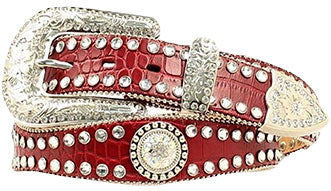 Red Embellished Belt