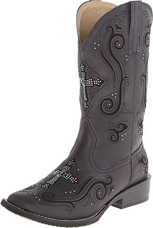 Roper Black Crossed Out Women's Boot