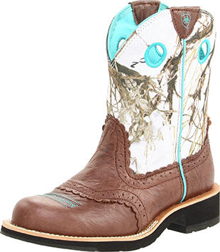 Ariat Brown Crinkle/Snowflake Fatbaby Boot
